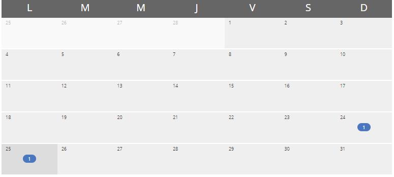 Calendario de nuestro Rankbox para saber el historial de URL posicionada